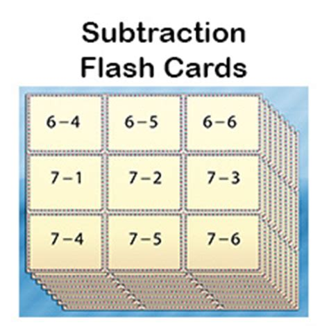how to make math flash cards free subtraction flash cards for printable pdfs