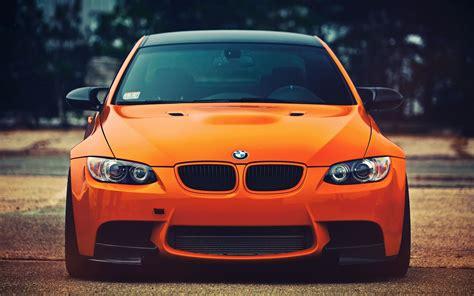 Car Wallpaper Orang by Bmw M3 Orange Car Front View Wallpapers Hd Desktop