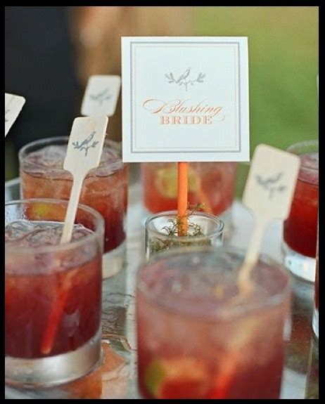 10 creative ways to present your signature wedding drink