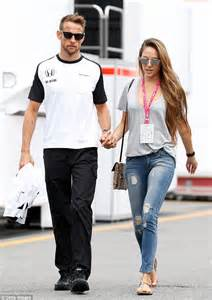 Unbreakable Mirror by Jenson Button And Wife Jessica At Formula One Italian