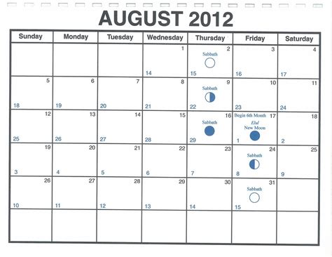 august 2012 lunar calendar