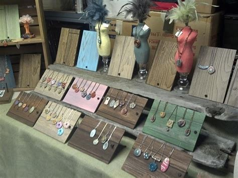 how to make jewelry displays for craft shows arts and craft show display for polymer clay jewelry