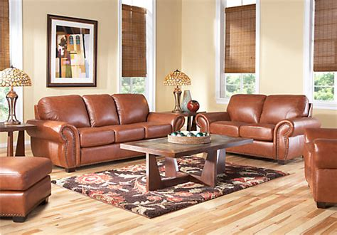 rooms togo balencia light brown leather 5 pc living room leather