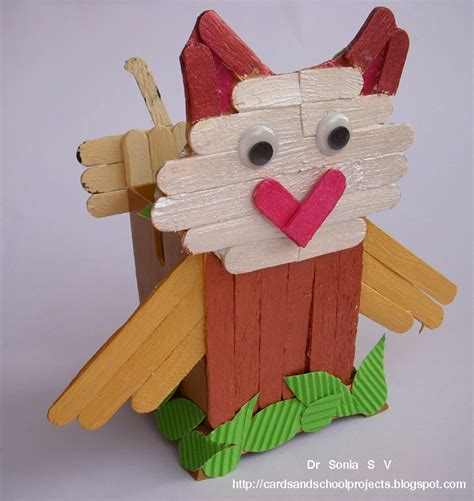 stick crafts cards crafts projects popsicle stick craft