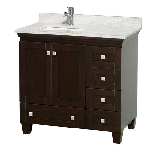 36 Bathroom Vanity Cabinet Acclaim 36 Quot Espresso Bathroom Vanity Set White Or Ivory Marble Counter