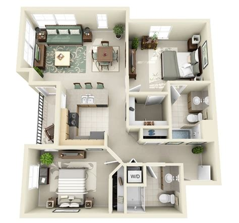 in apartment house plans 2 bedroom apartment house plans