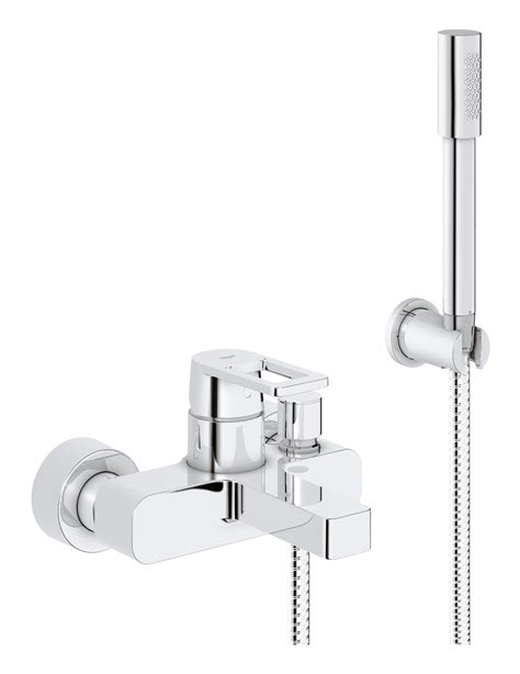 grohe bath shower mixer taps grohe quadra wall mounted bath shower mixer tap with