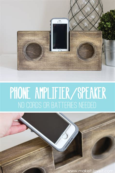 diy woodworking gifts wooden phone lifier speaker no cord or batteries needed