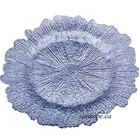 coral glass coral glass charger plate silver 8 pk by sunhope