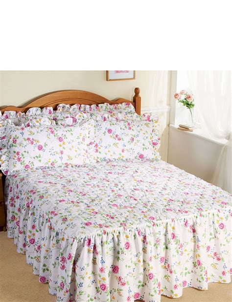 bed spreads for collette quilted fitted bedspread home bedroom