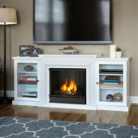 modern gel fireplace real frederick 72 in entertainment center ventless
