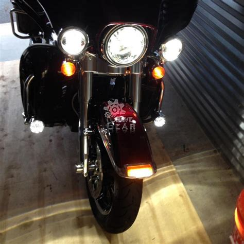 harley davidson lights 4 5 quot led daymaker auxiliary passing lights for harley