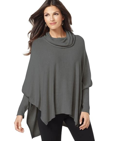 sweaters for womens alfani sweater sleeve cowlneck poncho womens
