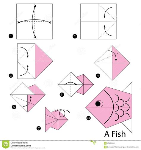 how to make a origami step by step origami fish printable
