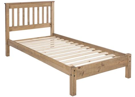 rustic pine bed frame abdabs furniture rustic pine single bed frame