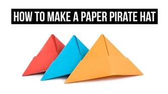 how to make an origami pirate hat how to make a paper pirate hat easy