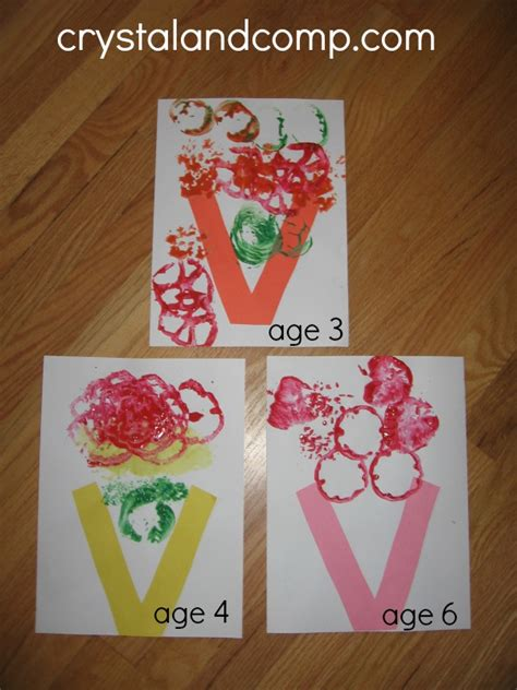 images of and craft for letter of the week preschool craft v is for vase
