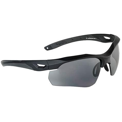 eye rubber st swiss eye skyray sunglasses smoke clear lens black
