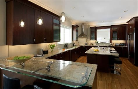 kitchen countertop lighting simple ideas to change your kitchen with glass