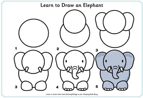 learning to draw learn to draw an elephant this site is great for