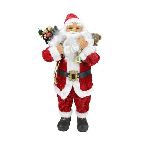 24 quot classic traditional and white standing santa claus