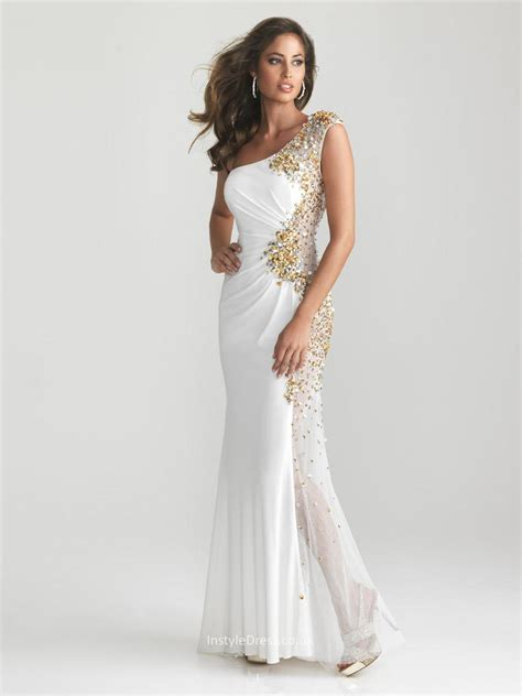 beaded prom dress contemporary white beaded sequin one shoulder sleeveless