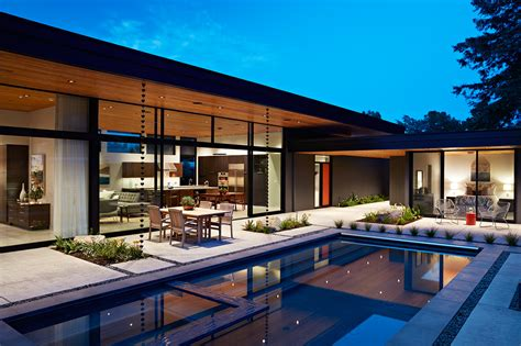 architecture house design glass wall house by klopf architecture