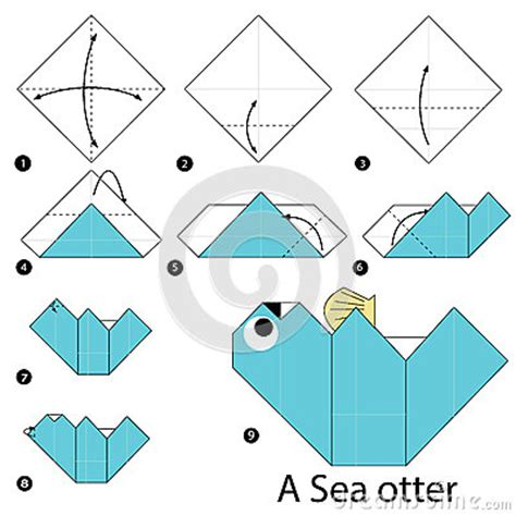 how to make origami sea animals step by step how to make origami a sea otter