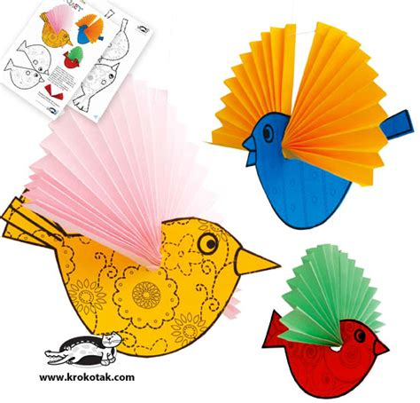 bird crafts for krokotak paper birds