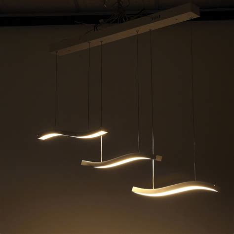 light fixtures pendant three wave led contemporary pendant light fixture modern