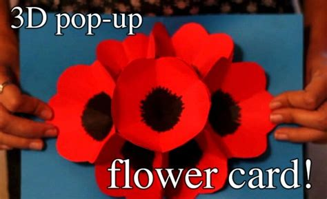 how to make a flower pop up card how to make 3d pop up flower greeting cards how to