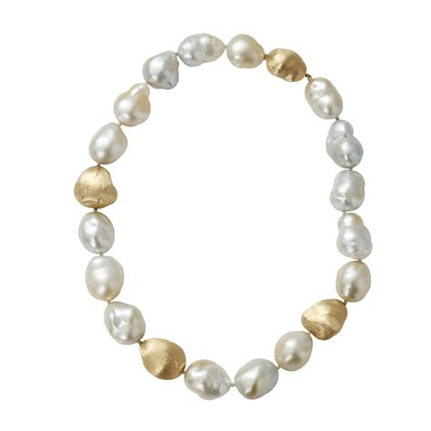 pearls jewelry yvel baroque pearl necklace in white ylwgold lyst