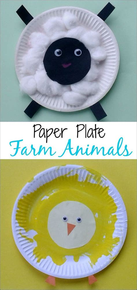 farm animal crafts for crafts for toddlers paper plate baby farm animals