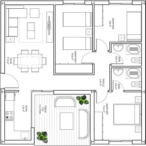 80 square meter 28 80 square meter house plan floor plans for 60