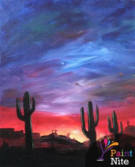 paint nite in my area blue desert at chicago littleton paint nite events