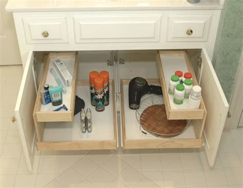 bathroom cabinet pull out shelves shelfgenie bathroom pull out shelves bathroom cabinets
