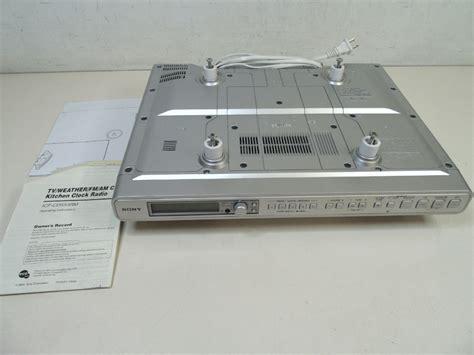 sony cabinet kitchen cd clock radio sony kitchen clock radio cabinet am fm radio cd
