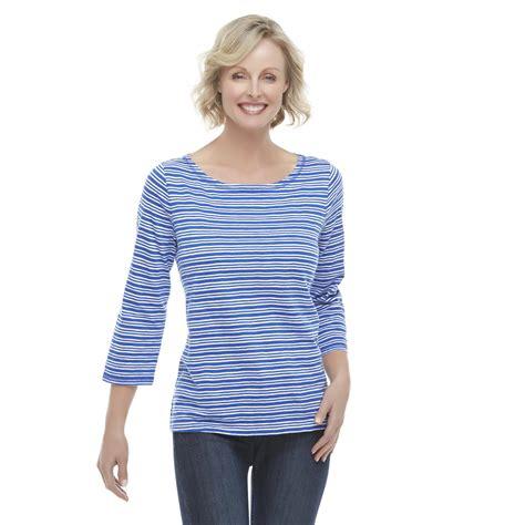 basic editions knit basic editions s slub knit t shirt striped