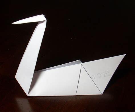origami swan pdf swan printable origami