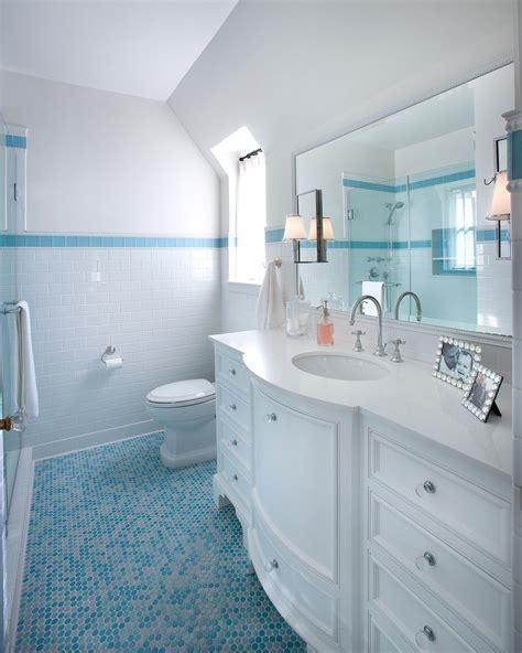 Penny Tile Floor Bathroom Shabby Chic With Bathroom