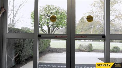 stanley glass doors troubleshooting stanley automatic sliding doors