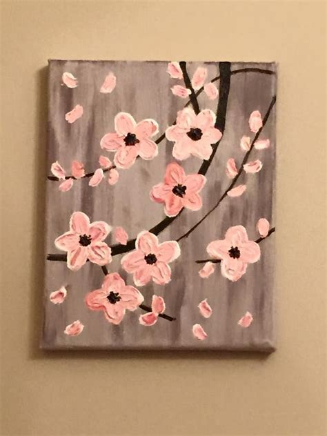 25 best ideas about flower painting canvas on