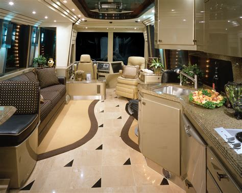 motor home interior prevost rv motorhomes for rent or lease with