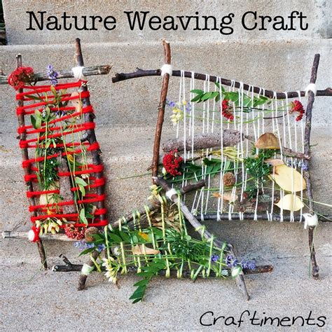 nature crafts for craftiments summer c nature weaving craft and