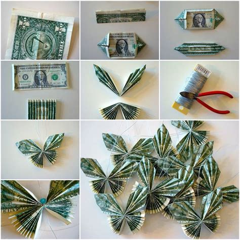 origami money step by step how to make butterflies with money bills diy tutorial