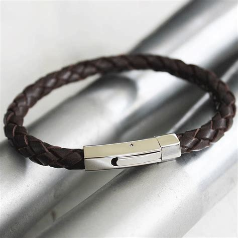 leather wristbands for s leather bracelet by zamsoe notonthehighstreet