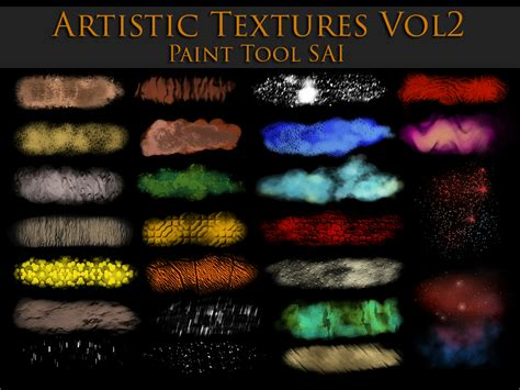 paint tool sai zip paint tool sai artistic textures vol2 by zummerfish on