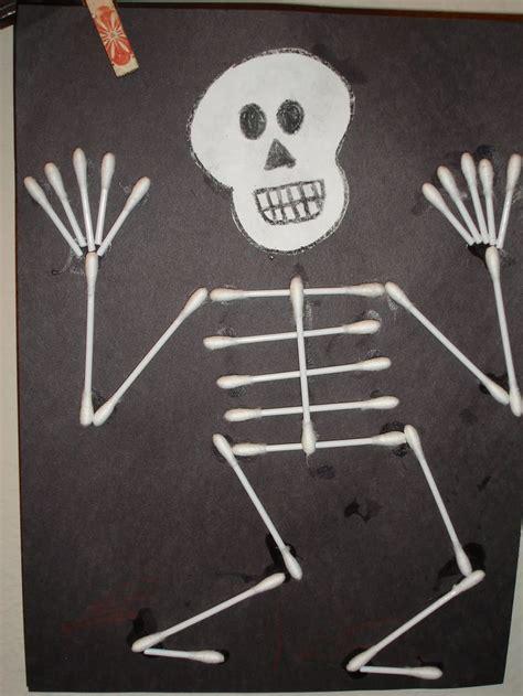 skeleton craft for q tip skeleton craft template myideasbedroom