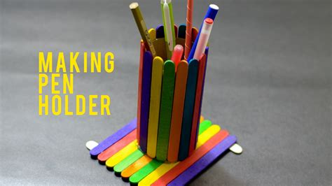 how to make craft diy how to make a pen stand by stick