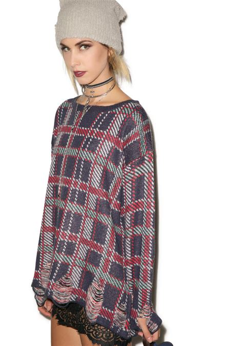 tightly knit wildfox couture all plaid tight knit dolls kill